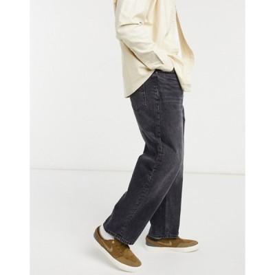 ベルシュカ メンズ デニムパンツ ボトムス Bershka wide leg jeans in dark wash