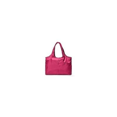 [ローズ]女性Nylonハンドバッグソリッドトートバッグマルチポケットショッピングバッグ