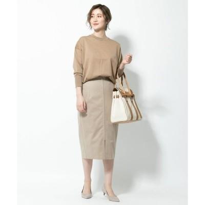 スカート エコスウェードジップアップスカート