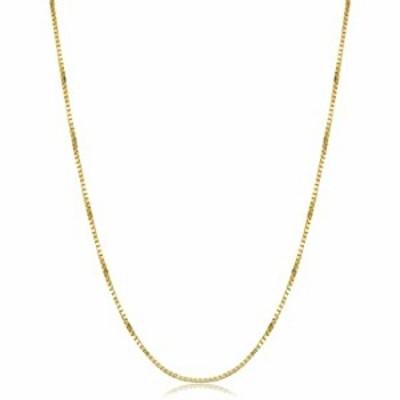Kooljewelry 14k Yellow Gold Venetian Box Chain Necklace (1 mm, 20 inch)