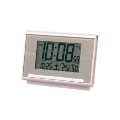 SEIKO セイコー クロック 温度・湿度表示つき 電波目覚まし時計  SQ698P