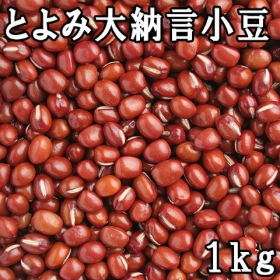 とよみ大納言小豆 2.0分上玉 (1kg) 令和2年 北海道産 【メール便対応】