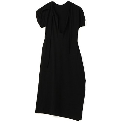 <LIMI feu(Women)/リミフゥ> 30/-sz Cotton Strong twisted Plain Stitch Asymme Design Dress ブラック【三越伊勢丹/公式】