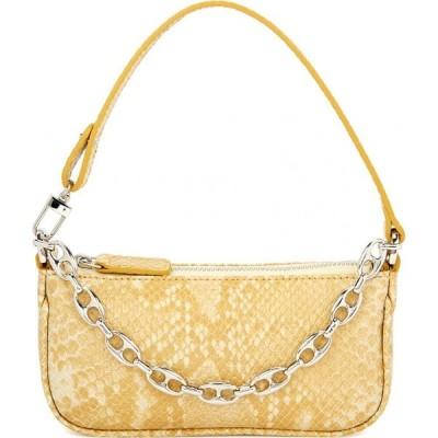 バイ ファー BY FAR レディース ハンドバッグ バッグ Rachel mini python-effect leather top handle bag Multi