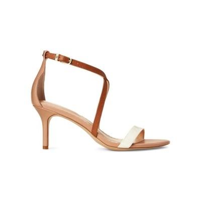 ラルフローレン レディース サンダル シューズ Leaton Ankle-Strap Leather Sandals Tan