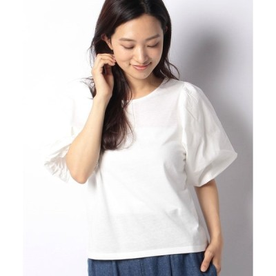 【エヘカソポ】【ehka sopo】布帛パフスリーブTシャツ