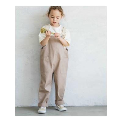 【pairmanon】【ママとおそろい】【リンクコーデ】サロペット オーバーオール ユニセックス デニム ポケット テーパード ナチュラル