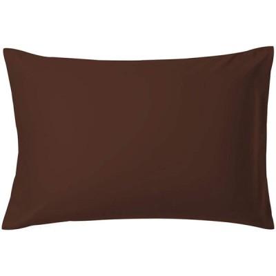 AYO 枕カバー 高級棉100% 全サイズピローケース ホテル品質 サテン織 300本高密度 (ブラウン, 43*63cm)