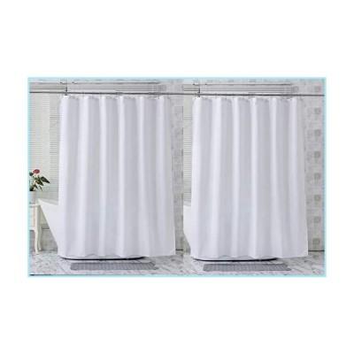 新品AmazerBath 2-Pack Fabric Shower Curtain, White Polyester Shower Curtains Shower Curtain Liner Bathroom Shower Curtains, Water Repellen