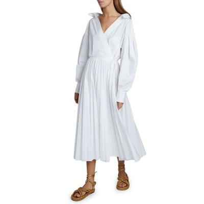 ヴァレンティノ レディース ワンピース トップス Puff-Sleeve Wrap Dress