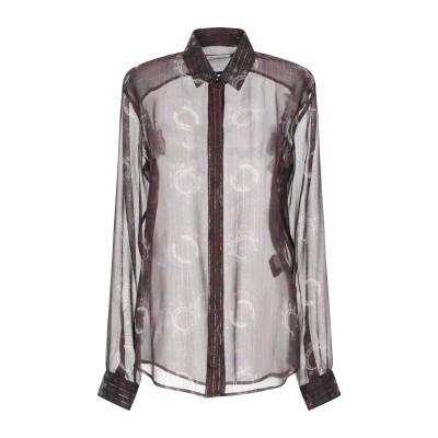 SAINT LAURENT シャツ ボルドー 34 シルク 97% / 金属 3% シャツ
