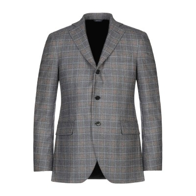 TOMBOLINI テーラードジャケット グレー 48 バージンウール 100% テーラードジャケット