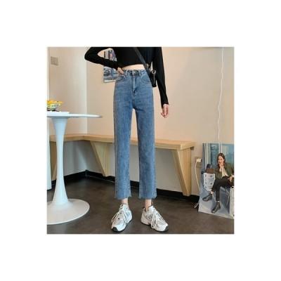 【送料無料】女性のジーンズ 荷重 秋 韓国風 何でも似合う ハイウエスト 着やせ ス   364331_A63675-6242979