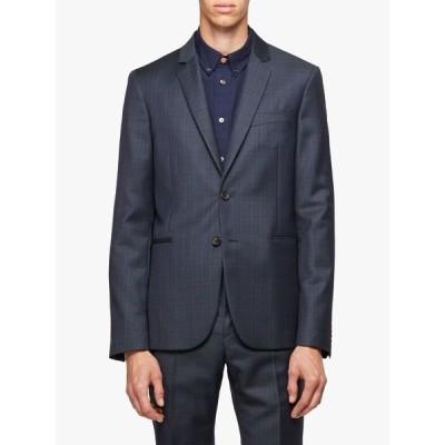 ポールスミス ジャケット&ブルゾン メンズ アウター Paul Smith Wool Check Slim Fit Suit Jacket, Navy