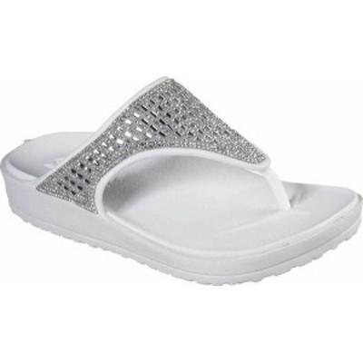 スケッチャーズ レディース サンダル シューズ Women's Skechers Foamies Cali Breeze 2.0 Thong Sandal White