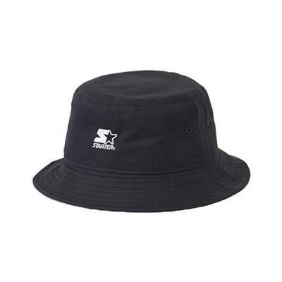 スターター (STARTER) バケットハット ロゴ ハット 帽子 BUCKET HAT (01 ブラック)