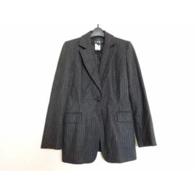 アイシービー ICB ジャケット サイズ11 M レディース ダークグレー×白 ストライプ【中古】