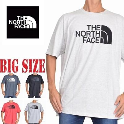 大きいサイズ メンズ ノースフェイス 半袖 ハーフドーム プリント Tシャツ USAモデル XL XXL 白 ホワイト THE NORTH FACE [M便 1/1]