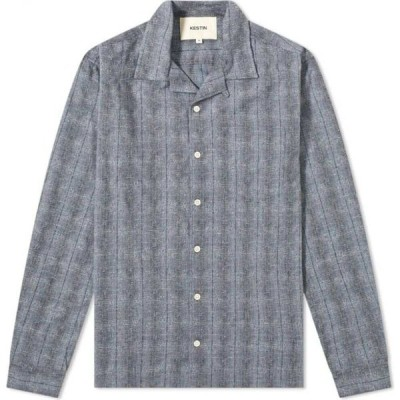 Kestin メンズ シャツ トップス tain shirt Blue Melange