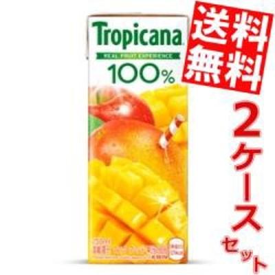 【送料無料】キリン トロピカーナ100% マンゴーブレンド 250ml紙パック 48本 (24本×2ケース) [果汁100%][のしOK]big_dr