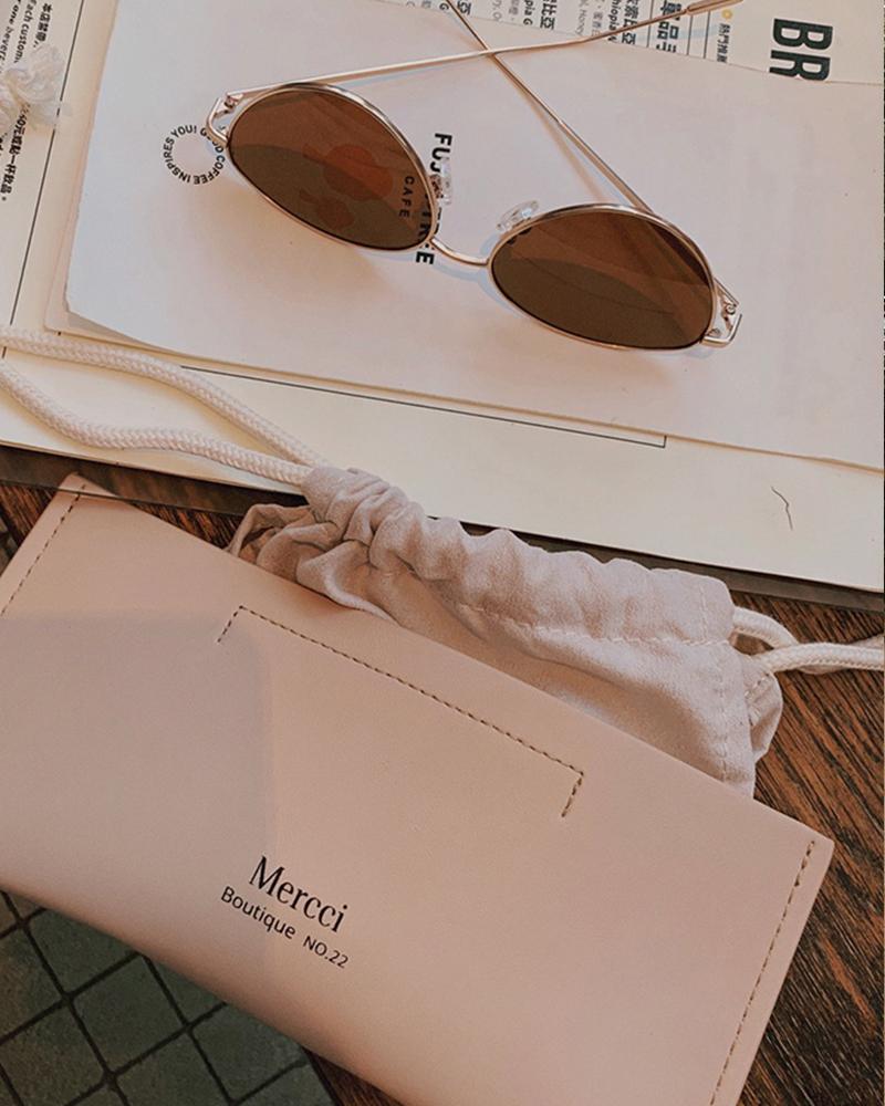 品牌皮革眼鏡袋-Mercci22