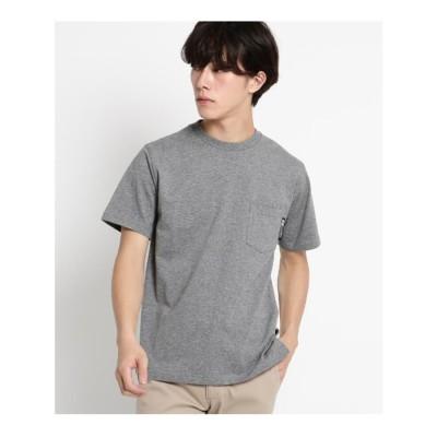 ベース コントロール BASE CONTROL Tシャツ メンズ クルーネック ポケット 半袖Tシャツ (ブラック系)