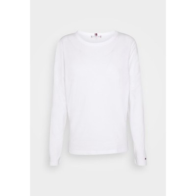 トミー ヒルフィガー カットソー レディース トップス RELAXED TEE - Long sleeved top - white
