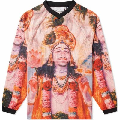 ファッキングオーサム Fucking Awesome メンズ 長袖Tシャツ トップス Long Sleeve KB Ganesh Mesh Tee Sublimated Artwork