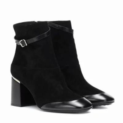 トッズ ブーツ Leather and suede ankle boots Black
