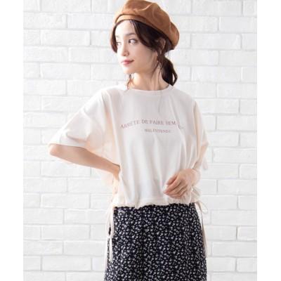 (WEGO/ウィゴー)WEGO/シンプルロゴドロストTシャツ/ユニセックス キナリ