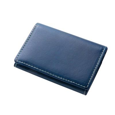 オリーチェバケッタレザーカードケース ネイビー メンズ 財布/小物