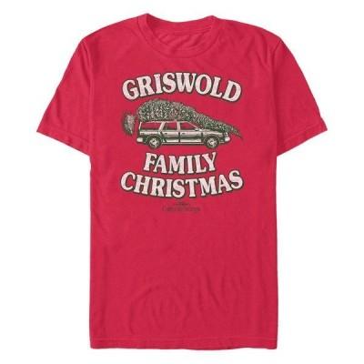 フィフスサン Tシャツ トップス メンズ Men's National Lampoon Christmas Vacation Tie One on Short Sleeve T-shirt Red