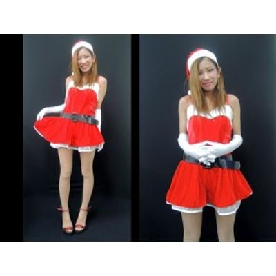 サンタ コスプレ コスチューム クリスマス 衣装 ワンピース サンタクロース 仮装 手袋付 レディース  9