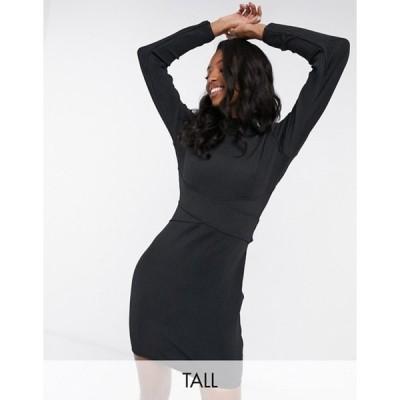 ミスガイデッド レディース ワンピース トップス Missguided Tall cut out back bandage dress in black