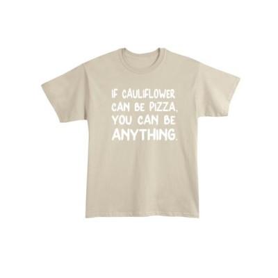 ユニセックス 衣類 トップス What On Earth Unisex If Cauliflower Can Be Pizza T-Shirt - Funny Food Tee Tシャツ