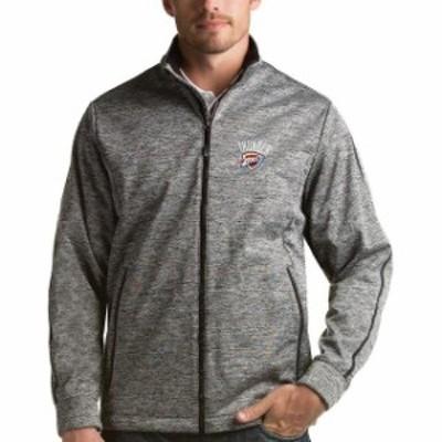Antigua アンティグア スポーツ用品  Antigua Oklahoma City Thunder Heather Gray Golf Full-Zip Jacket