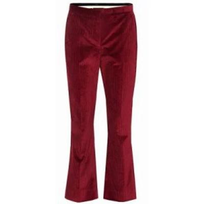 マックスマーラ クロップド Saigon corduroy pants