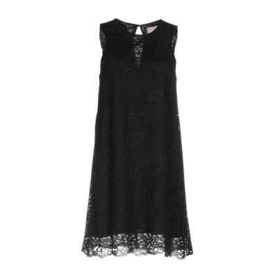 SWEET SECRETS ミニワンピース&ドレス ブラック 44 ナイロン 60% / コットン 40% ミニワンピース&ドレス