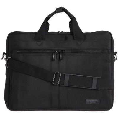 《軽量タイプの通勤多機能バッグです》McGREGOR 2WAYビジネスバッグ(21948)ブラック