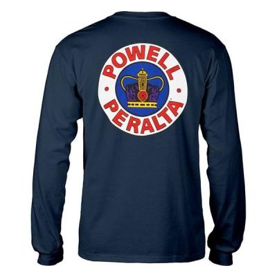 Powell Peralta (パウエル・ペラルタ) ロンT ロングTシャツ 長袖 Supreme Long Sleeve T-Shirt Navy スケボー SK8 スケートボード HARD CORE PUNK HIPHOP