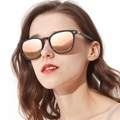 サングラス TJUTR ミラー偏光サングラス レディース ファッションアイウェア ドライビング用 アウトドア用 100%UV保護 US サイズ: M カラ