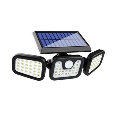 Aonice センサーライト 屋外 ソーラーセンサーライト 人感センサー自動点灯消灯 ソーラー充電 センサーライト 74LED IP65防水