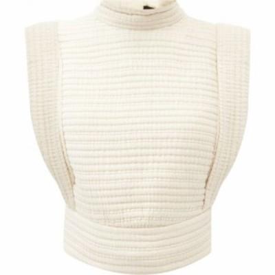 イザベル マラン Isabel Marant レディース ノースリーブ トップス Carola sleeveless quilted-cotton top Ivory