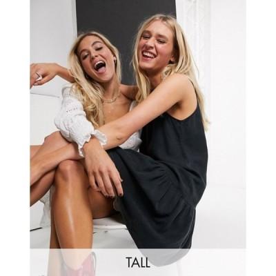 ノイジーメイトール レディース ワンピース トップス Noisy May Tall sleeveless mini dress in black