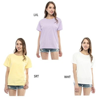ビラボン レディース バックプリントTシャツ 半袖Tシャツ トップス BA013220