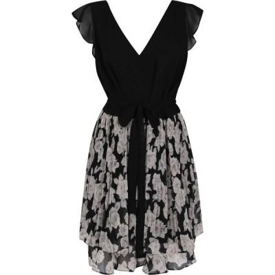 オアシス Oasis レディース ワンピース ワンピース・ドレス Curve Mono Floral Dress Multi Black