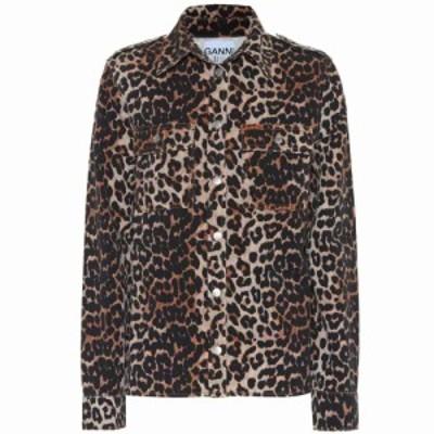 ガニー Ganni レディース ブラウス・シャツ トップス Leopard-print denim shirt Leopard