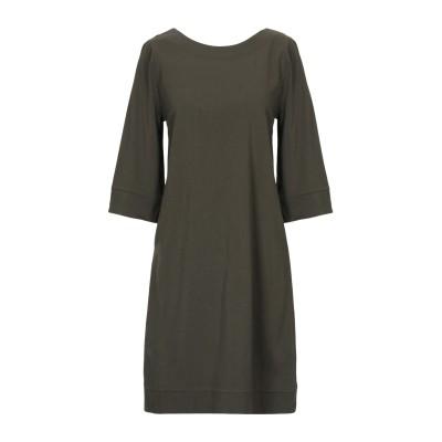 アルファスタジオ ALPHA STUDIO ミニワンピース&ドレス ミリタリーグリーン 38 コットン 100% ミニワンピース&ドレス
