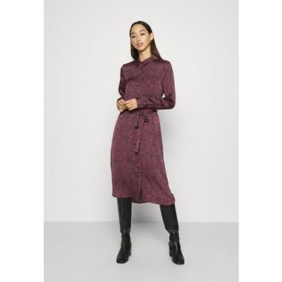 ヴェロモーダ レディース ドレス VMBILLI BELT DRESS - Day dress - burnt russet