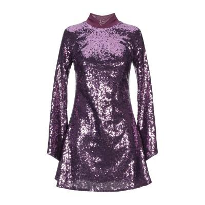 パロッシュ P.A.R.O.S.H. ミニワンピース&ドレス パープル L ポリエステル 100% / ポリ塩化ビニル ミニワンピース&ドレス